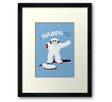 I Wampa Hug. Framed Print
