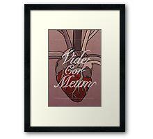 Vide Cor Meum Framed Print