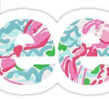 Jeep Lilly Pulitzer Inspired Print Vinyl Sticker Sticker