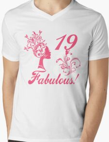 19 & Fabulous ! Mens V-Neck T-Shirt