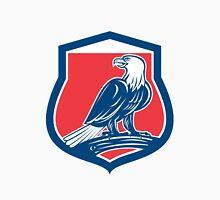 Bald Eagle Perching Shield Retro Unisex T-Shirt