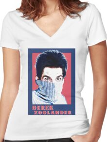 zoolander Women's Fitted V-Neck T-Shirt