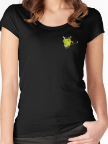 Transparent SpongeBob Lick Meme Women's Fitted Scoop T-Shirt