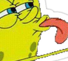 Transparent SpongeBob Lick Meme Sticker