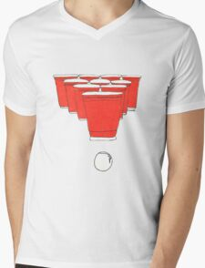 Beer Pong Mens V-Neck T-Shirt