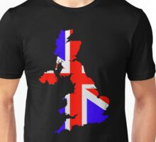 United Kingdom Flag and Map Unisex T-Shirt