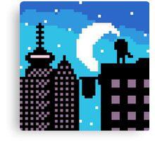 Silhouette city  Canvas Print