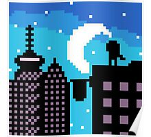 Silhouette city  Poster