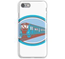 Passenger Train Front View Retro iPhone Case/Skin