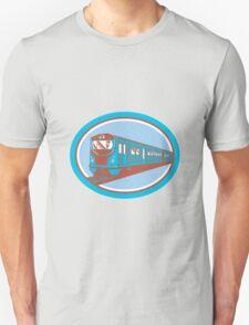 Passenger Train Front View Retro Unisex T-Shirt