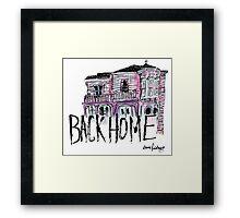 back home - color Framed Print