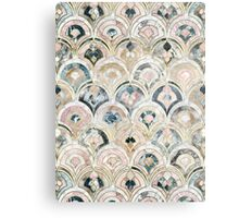 Art Deco Marble Tiles in Soft Pastels Metal Print