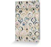 Art Deco Marble Tiles in Soft Pastels Greeting Card