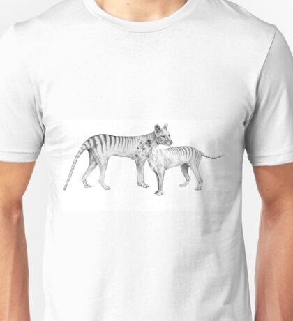 Thylacine Pair  - Tasmanian Tiger Unisex T-Shirt