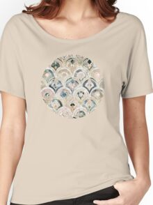 Art Deco Marble Tiles in Soft Pastels Women's Relaxed Fit T-Shirt
