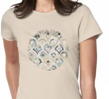 Art Deco Marble Tiles in Soft Pastels Womens Fitted T-Shirt