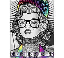Tie Die Hipster Monroe Photographic Print