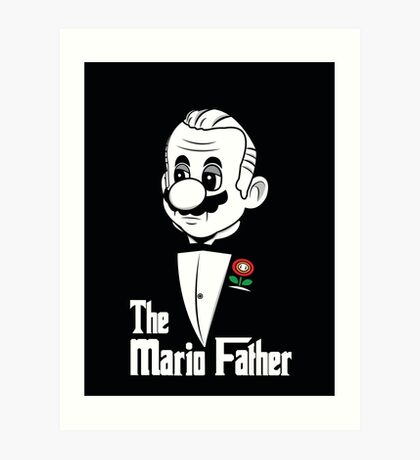 The Mario Father -fan art- Art Print