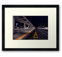 Train Plarform Framed Print