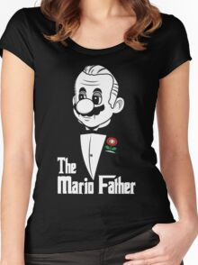 The Mario Father Women's Fitted Scoop T-Shirt