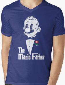 The Mario Father Mens V-Neck T-Shirt