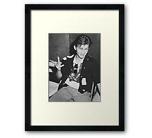 Young 80s Christian Slater  Framed Print