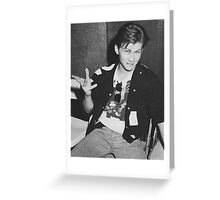 Young 80s Christian Slater  Greeting Card
