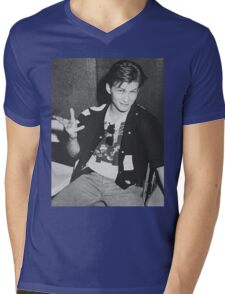 Young 80s Christian Slater  Mens V-Neck T-Shirt
