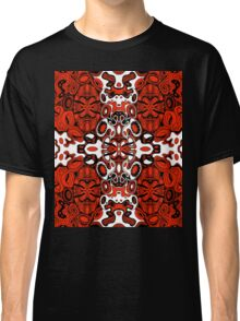 Miniature Aussie Tangle 13 in Black White and Red Classic T-Shirt