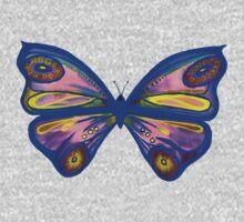 Watercolour Butterfly 1 One Piece - Long Sleeve