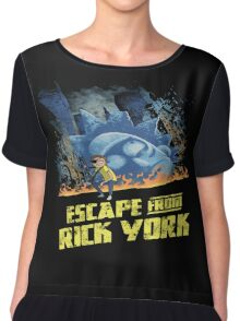 rick and morty escape from new york Chiffon Top