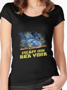 rick and morty escape from new york Women's Fitted Scoop T-Shirt