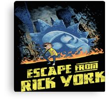 rick and morty escape from new york Canvas Print