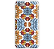 Kaleidoscope of succulents in boho style. iPhone Case/Skin