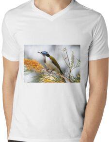Blue-Faced Honeyeater Mens V-Neck T-Shirt
