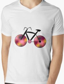 Fantasy bike in orange Mens V-Neck T-Shirt