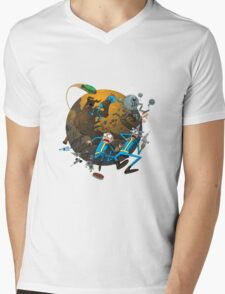 Rick And Morty Fallout Mens V-Neck T-Shirt