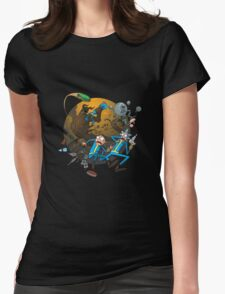 Rick And Morty Fallout Womens Fitted T-Shirt