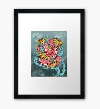 Frosty Fun Framed Print