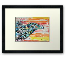 Rainbow Eagle Framed Print
