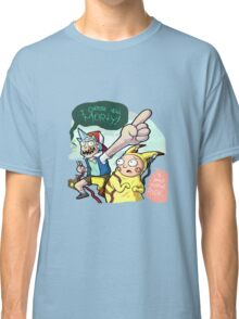 Rick And Morty Meet Pikachu Classic T-Shirt