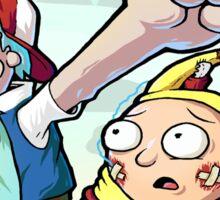 Rick And Morty Meet Pikachu Sticker