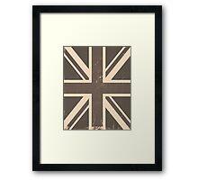 Vintage United Kingdom Flag Framed Print