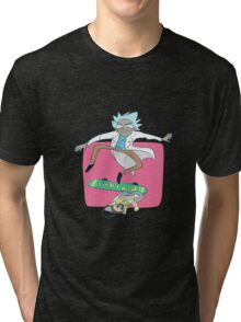 Rick And Morty Skateboard Tri-blend T-Shirt