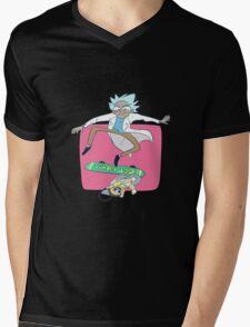 Rick And Morty Skateboard Mens V-Neck T-Shirt