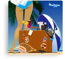 Travelling bag Canvas Print
