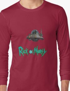 rick and morty UFO Long Sleeve T-Shirt