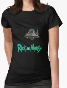 rick and morty UFO Womens Fitted T-Shirt