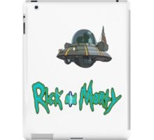 rick and morty UFO iPad Case/Skin