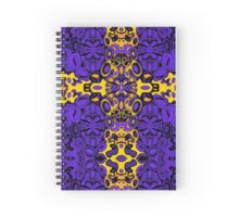 Miniature Aussie Tangle 13 Pattern in Purple and Gold Spiral Notebook